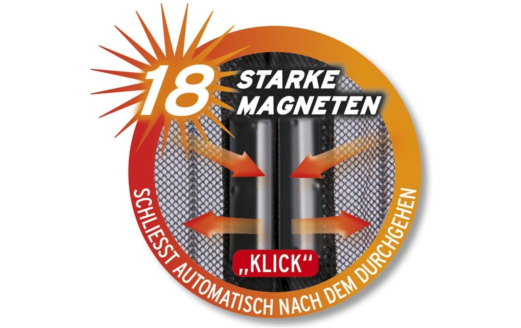Easymaxx Fliegengitter Magic Click 90x210 Cm