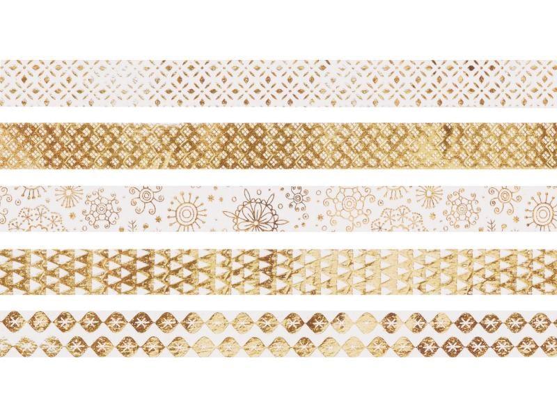 Heyda Washi Tape Weihnachten Glänzend Gold
