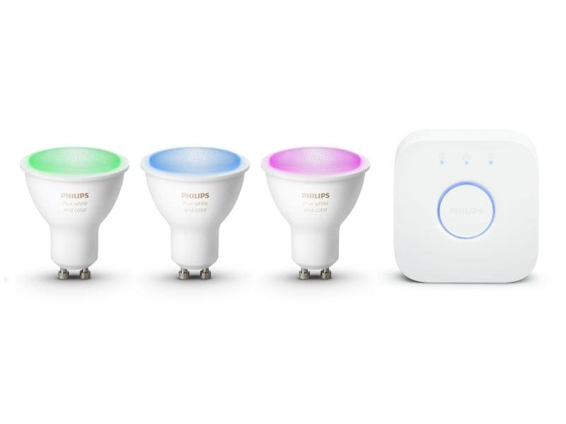 Philips Hue Starterset White & Color Ambiance, 5.5 W, GU10, BT