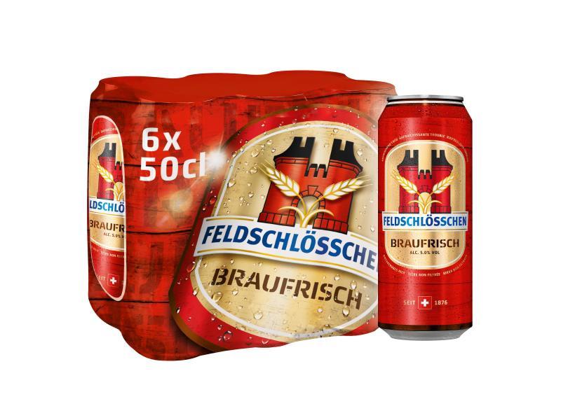 Feldschlösschen Bier Braufrisch 6 x 0.5 l