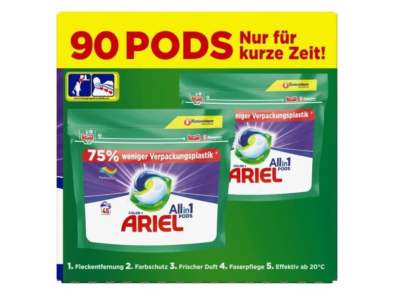 Ariel Waschmittel Kapseln All-in-1 Color Farbschutz 90 Stück