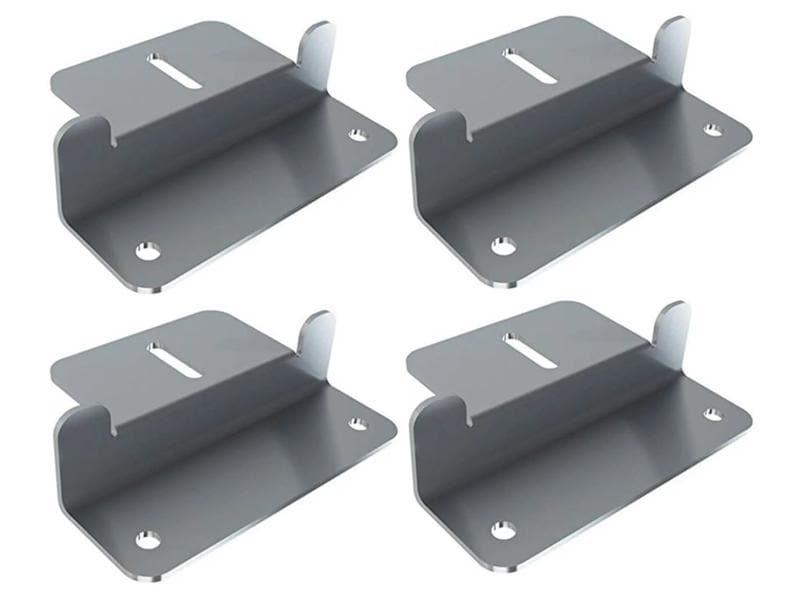 autosolar Befestungsmaterial Montage Z-Winkel 4 Stück mit Schrauben