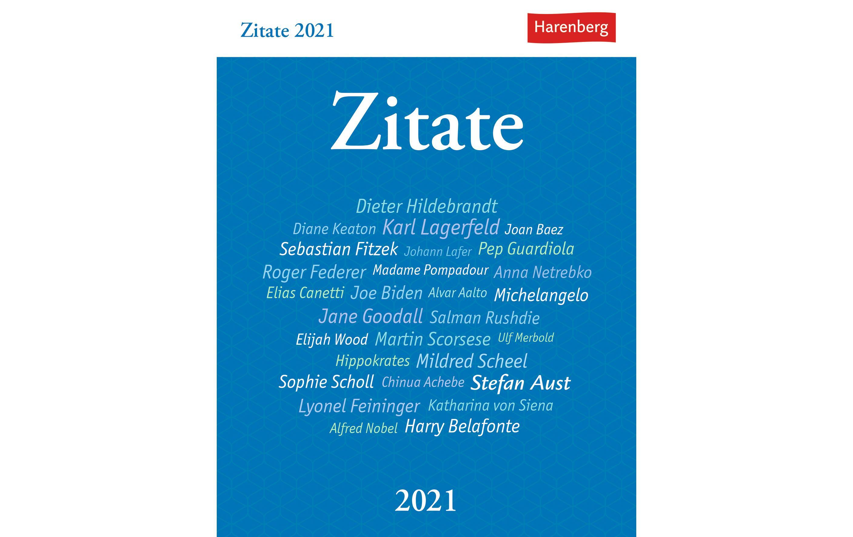 Harenberg Kalender Zitate 2021