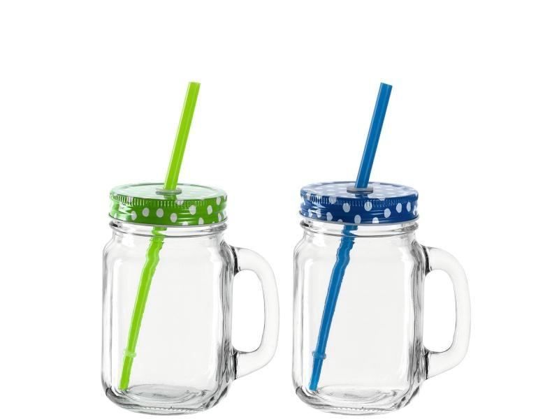 Montana Trinkkrug TO GO 470 ml, 2 Stück, Blau/Grün