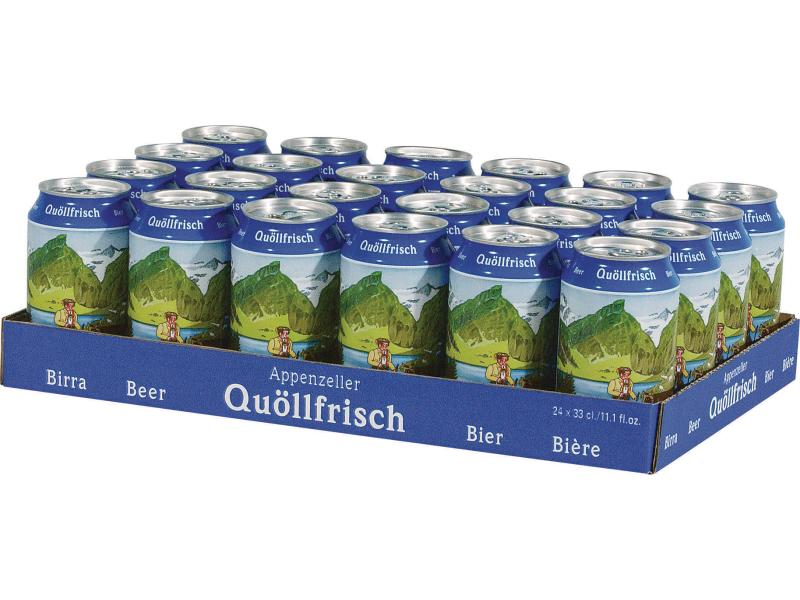 Appenzeller Bier Quöllfrisch 24 x 0.33 l hell