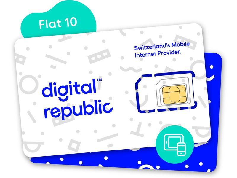 Digital Republic SIM-Karte Unlimitiert Internet für 30 Tage - Medium Speed