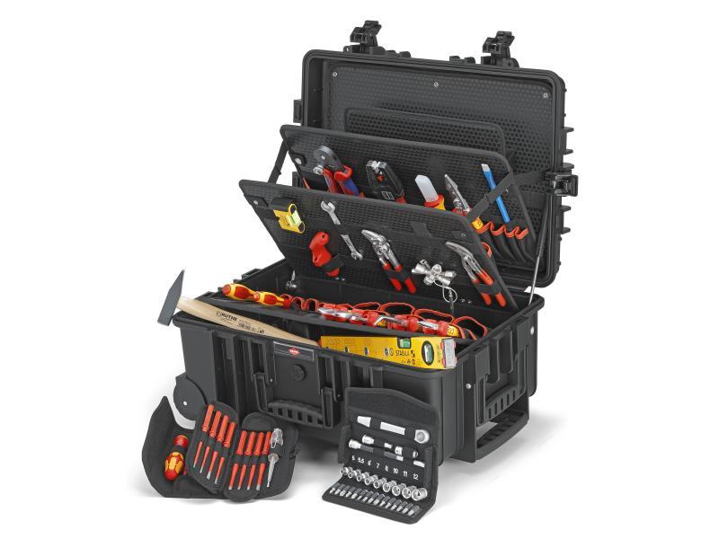 Knipex Werkzeugkoffer «Robust45» Elektro 63-teilig