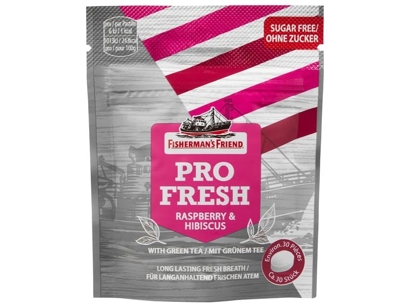 Fisherman's - Bonbons Pro Fresh Raspberry & Hibiscus 17 g