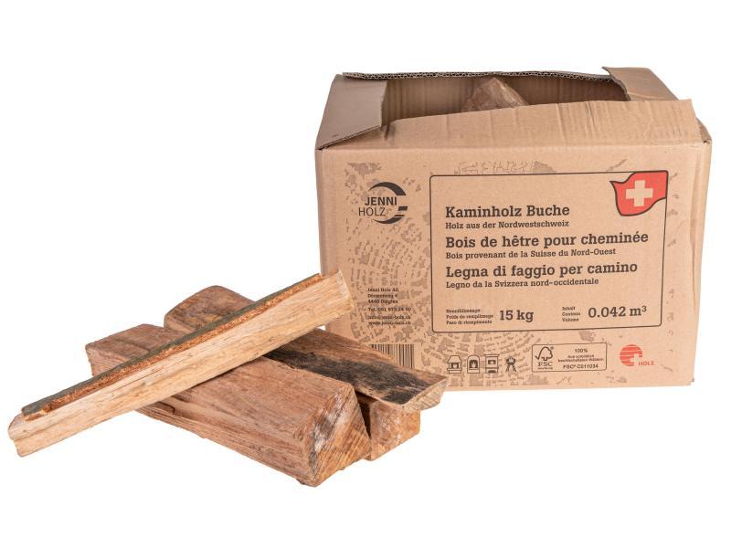 Jenni Holz Brennholz Buchenholz 15 kg, Schweizer Holz