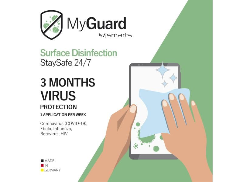 4smarts Displayreiniger MyGuard Surface Disinfection 24/7 12er Set
