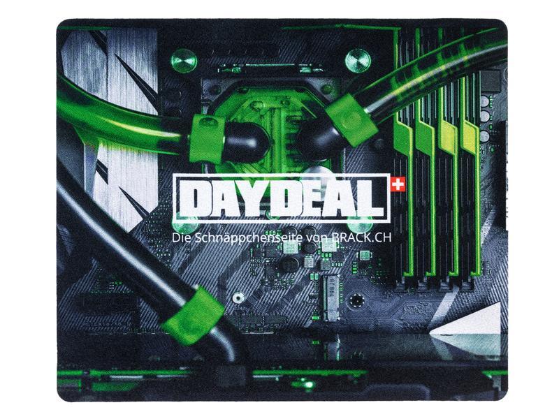 DayDeal.ch Gaming-Mausmatte DayDeal.ch Grün/Weiss