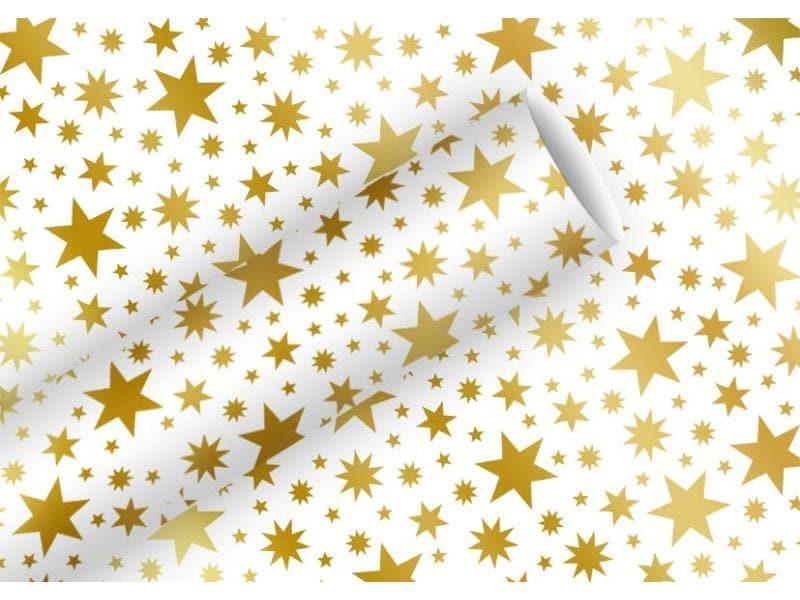 Braun + Company Geschenkpapier Beautiful Stars  Gold