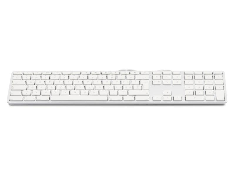 LMP Tastatur KB-1243 Silber, CH-Layout mit Ziffernblock