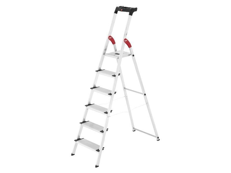 Hailo Stehleiter L80 Comfort Line 6 Stufen