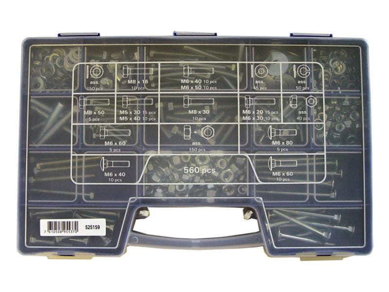 ferronorm Metallschrauben Koffer, 560 Stück