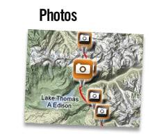 Fotos: Laden Sie Ihre Fotos hoch und präsentieren Sie diese anhand von Geotagging direkt auf der Landkarte.