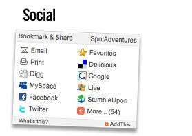 Social Media: Benutzen Sie aktuelle Tools wie Facebook oder Twitter, um weiteren Freunden von Ihren Abenteuern zu berichten.